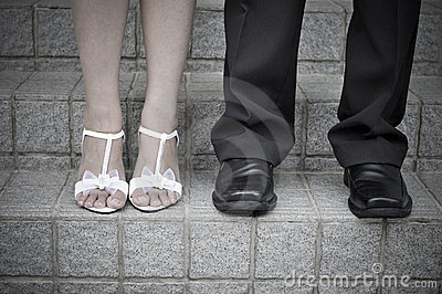 Bride and Groom Legs
