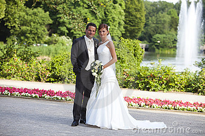 Bride and groom newlywed