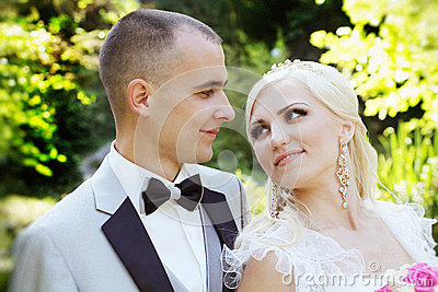 Bride and groom, portrait