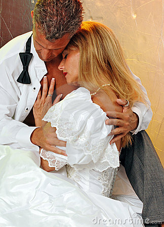 Bride and groom romance