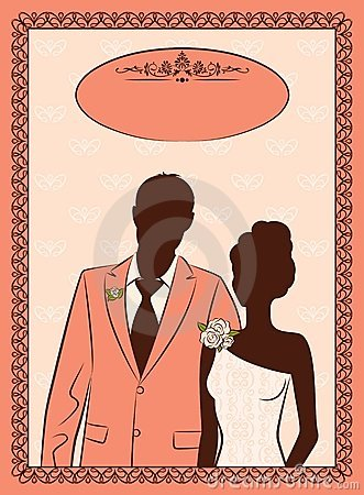 bride and groom s silhouette