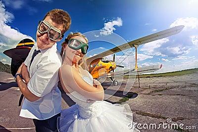 The bride and groom on their honeymoon