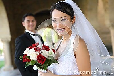 Bride and Groom at Wedding