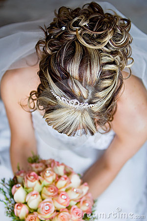 Bride hair from above
