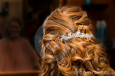 Bride at Hair Salon