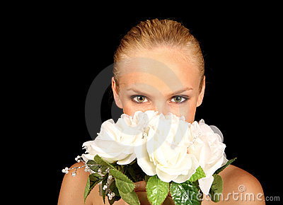 Bride With Her Face in Her