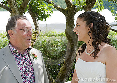 Bride and her Father enjoying a quiet moment