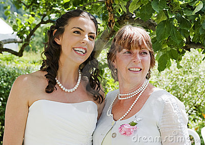 Bride and her Mother enjoying a quiet moment