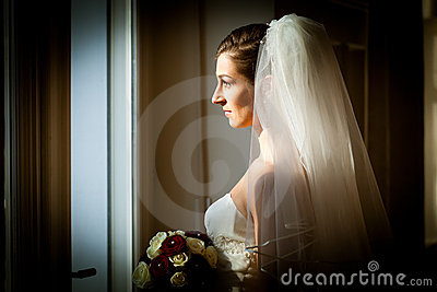 Bride at her wedding day