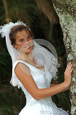 Bride hiding