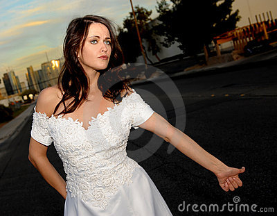 Bride Hitch Hiking