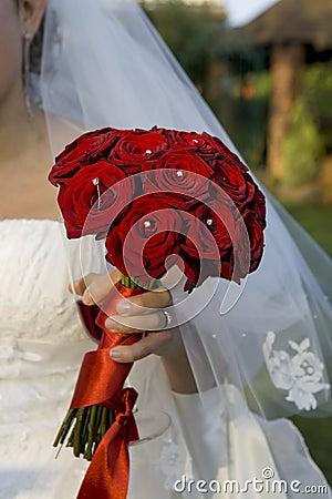 Bride holding a bouqet