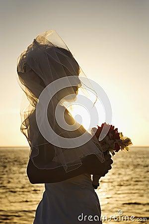 Bride holding bouque
