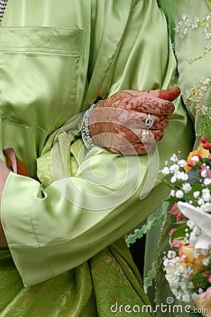 Free Bride Holding Tight Groom Hand Stock Photos - 2361753