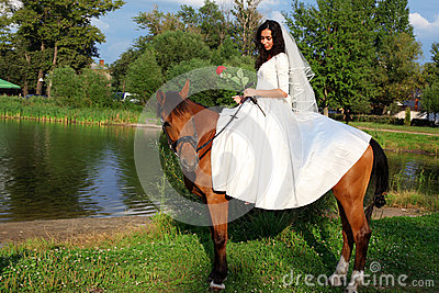 Bride horseback