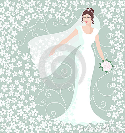 Free Bride In White Wedding Gown Stock Photo - 36848880