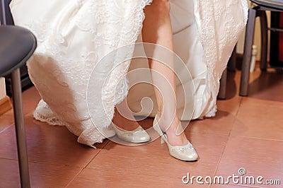Bride at Kitchen