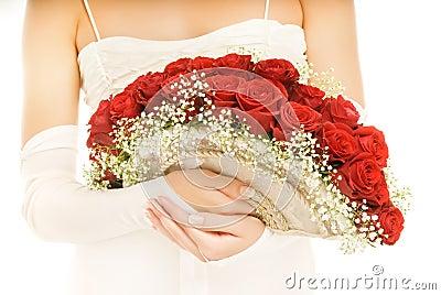 Bride with a luxury boquet
