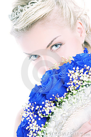 Bride with luxury bouquet