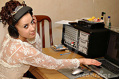 Bride with mixer console