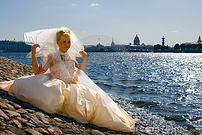 Bride near the River