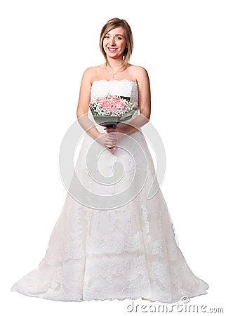 Free Bride On White Royalty Free Stock Photos - 28825448