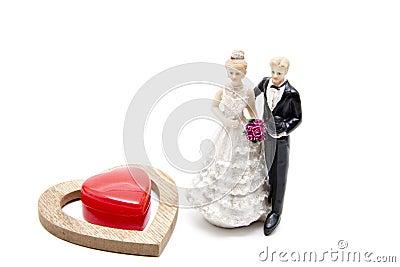Bride pair with dear heart