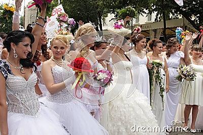 Bride parade Editorial Stock Image