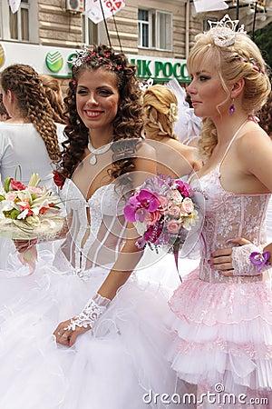 Bride parade Editorial Image