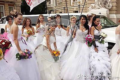 Bride parade Editorial Photography