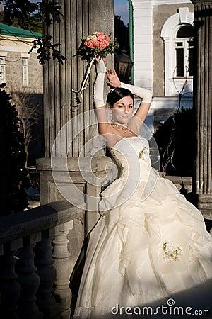 Bride in the park