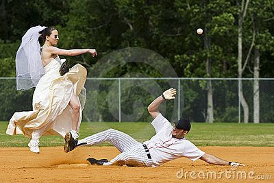 Bride Performing Double Play