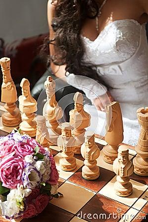 Bride play chess