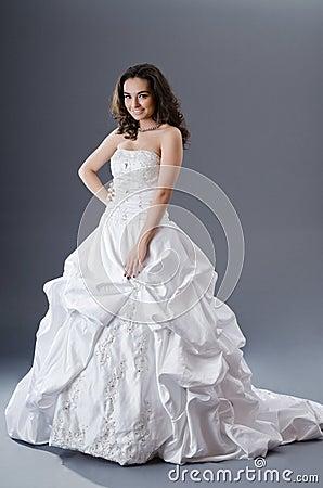 Bride posing in studio