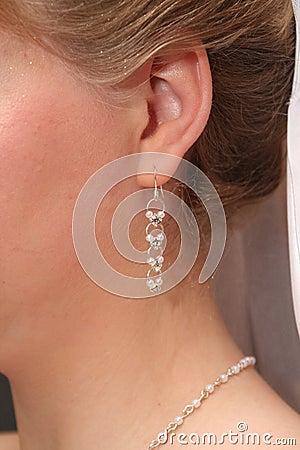 Free Bride`s Earring Stock Photo - 2517660