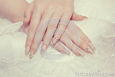 The bride s hand