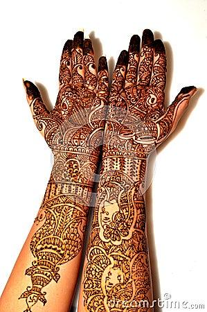 bride s hands with henna