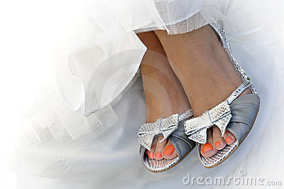 Bride s Pretty Feet