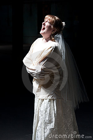 Bride Screaming in Straight Jacket