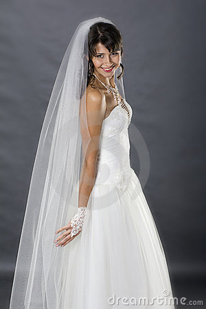Bride in studio