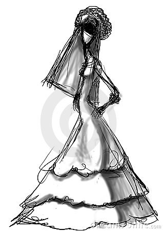 Bride stylish sketch