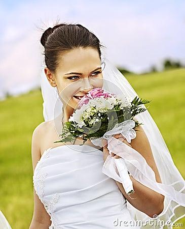 Bride summer outdoor.