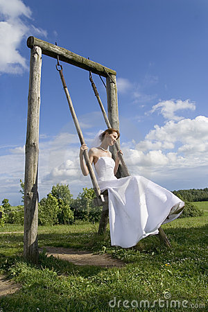 Bride on a swing