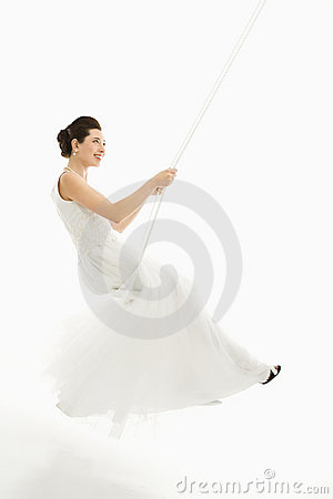 Bride swinging.