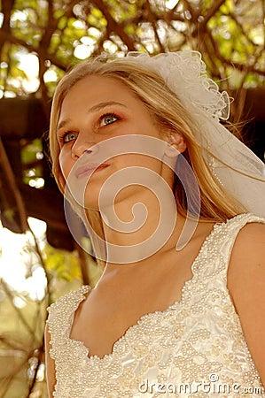 Bride thinking