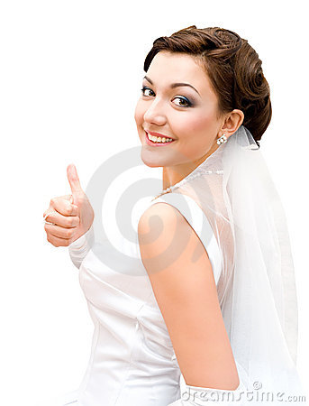 Free Bride - Thumb Up Stock Images - 17442784