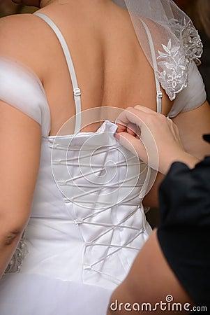 Bride tied