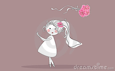 Bride Tossing Bouquet Stock Image - Image: 10069651