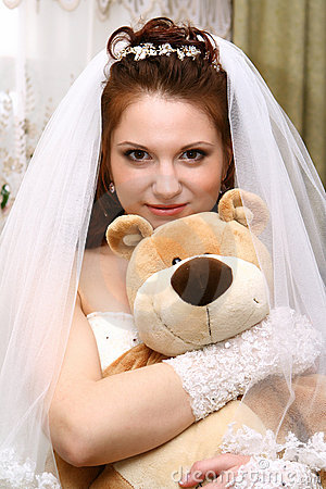 Bride with toy