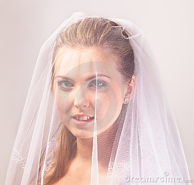 Bride with the veil